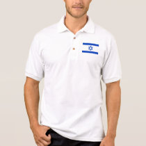Israel World Flag Polo Shirt