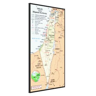 Israel y los territorios estados en conflicto lienzo envuelto para galerias