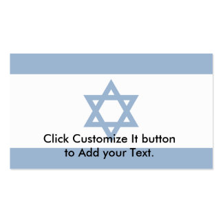 Israel(Yale Blue), Israel Double-Sided Standard Business Cards (Pack Of 100)
