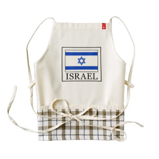 Israel Zazzle HEART Apron
