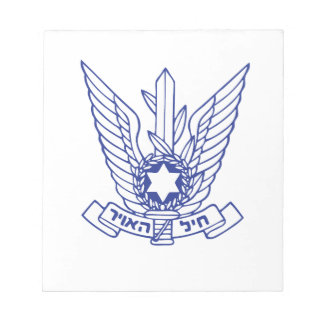 Israeli Air Force Emblem Note Pad