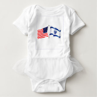 Israeli American flag collection Baby Bodysuit