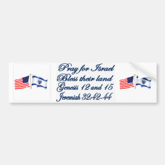 Israeli American flag collection Bumper Sticker
