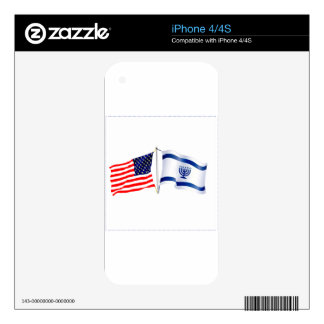 Israeli American flag collection iPhone 4 Decal
