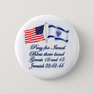 Israeli American flag collection Pinback Button