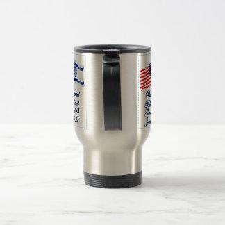 Israeli American flag collection Travel Mug