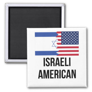 Israeli American Flag Magnet