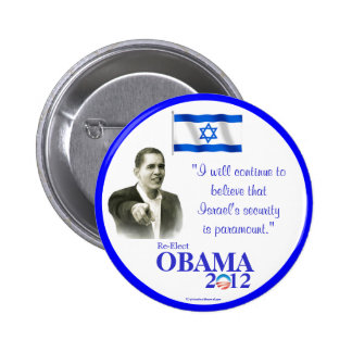 Israeli-Americans for OBAMA 2012 political pinback Button