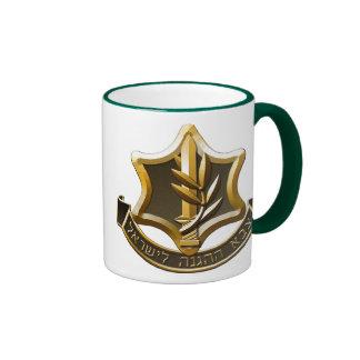 Israeli Defence Force Logo Ringer Coffee Mug
