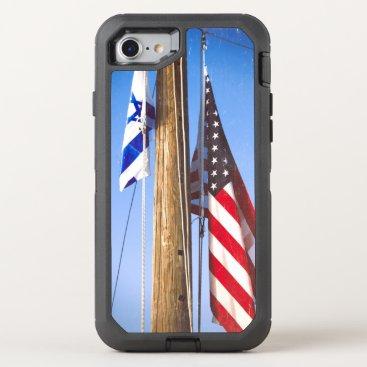 partridgelanestudio Israeli Flag and American Flag OtterBox Defender iPhone 7 Case