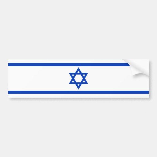 Israeli Flag Car Bumper Sticker