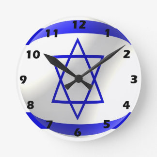 Israeli Flag Clocks