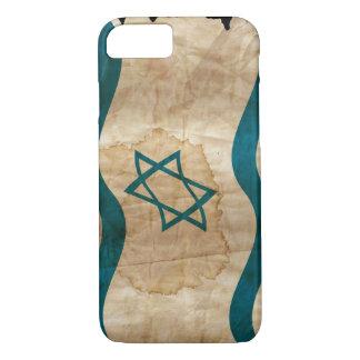 Israeli Flag in Vintage iPhone 7 Case