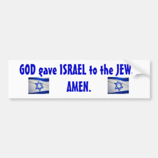 israeli_flag_Israel, israeli_flag_Israel, DIOS g… Pegatina Para Auto