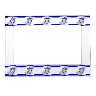 Israeli Flag Photo Frame Magnet