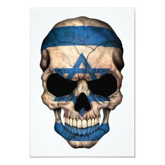 """Israeli Flag Skull 3.5"""" X 5"""" Invitation Card"""