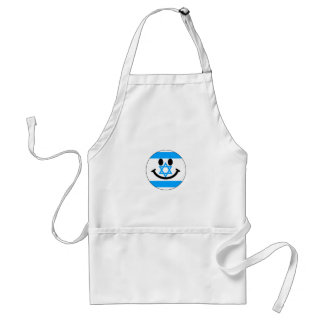 Israeli flag smiley face adult apron