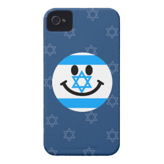 Israeli flag smiley face iPhone 4 Case-Mate case