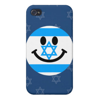 Israeli flag smiley face cover for iPhone 4