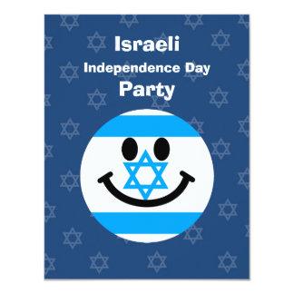 """Israeli flag smiley face 4.25"""" x 5.5"""" invitation card"""