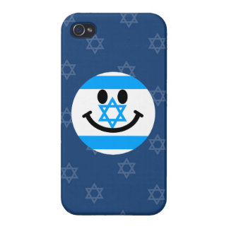 Israeli flag smiley face iPhone 4/4S covers