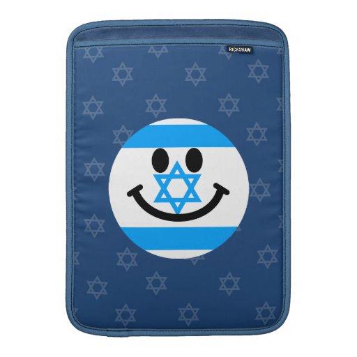 Israeli flag smiley face MacBook sleeve