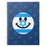 Israeli flag smiley face spiral notebook
