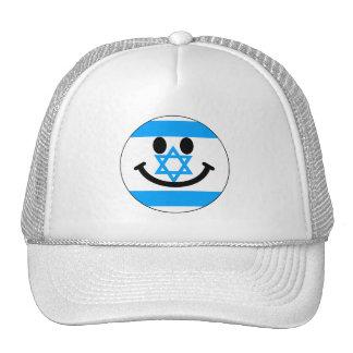 Israeli flag smiley face trucker hat