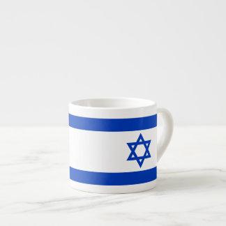 Israeli flag 6 oz ceramic espresso cup