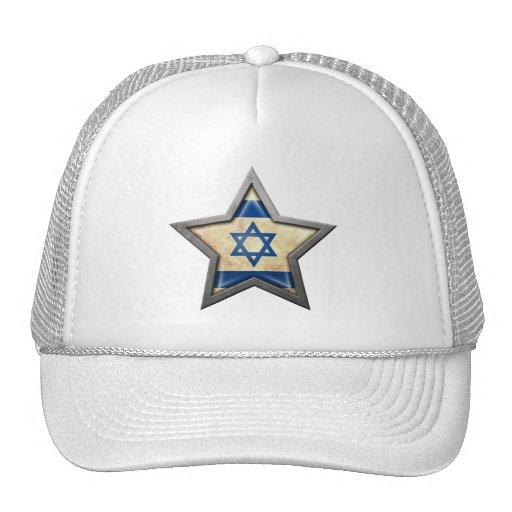 Israeli Flag Star Mesh Hat