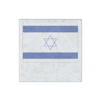 Israeli Flag Stone Magnet