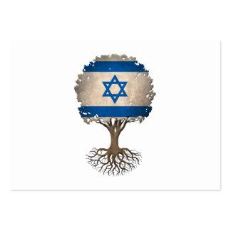 Israeli Flag Tree of Life Customizable Large Business Card