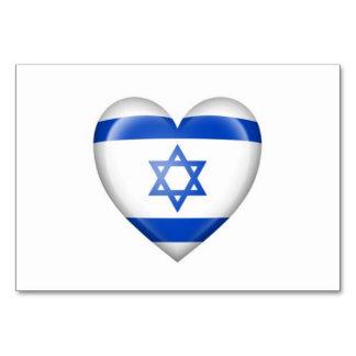Israeli Heart Flag on White Card