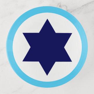 Israeli IAF Blue Star Roundel Trinket Trays