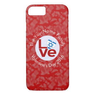 Israeli LOVE White on Red iPhone 8/7 Case