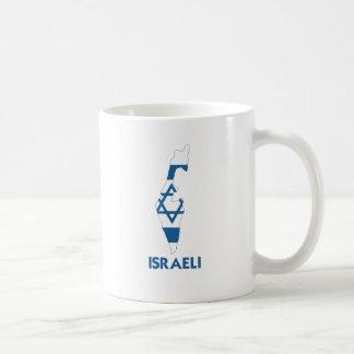 ISRAELI MAP CLASSIC WHITE COFFEE MUG