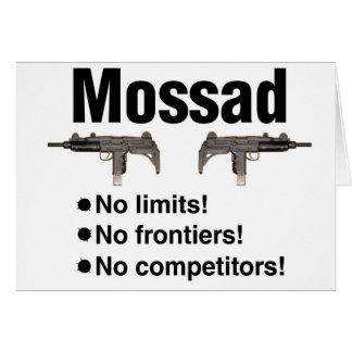 Israelí Mossad, la mejor agencia de inteligencia d Tarjeta De Felicitación