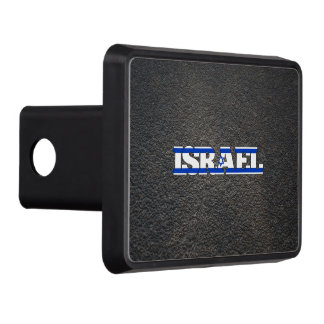 Israeli name and flag hitch cover