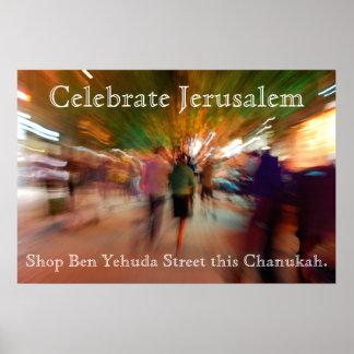 Israeli poster...celebrate...shop Ben Yehuda St.