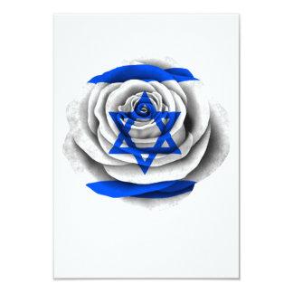 """Israeli Rose Flag 3.5"""" X 5"""" Invitation Card"""
