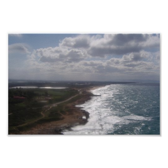 israeli seaside canvas print