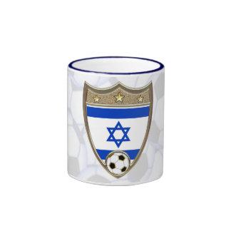 Israeli Soccer Ringer Coffee Mug