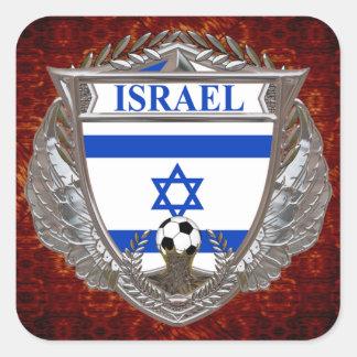 Israeli Soccer Square Sticker