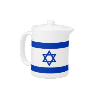 Israelian Flag Teapot