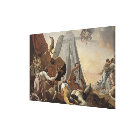 Israelites afligidos con la serpiente descarada impresiones de lienzo