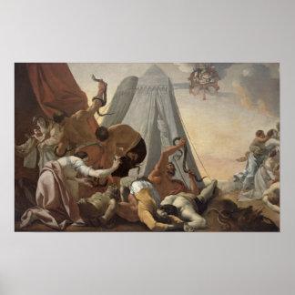 Israelites afligidos con la serpiente descarada posters