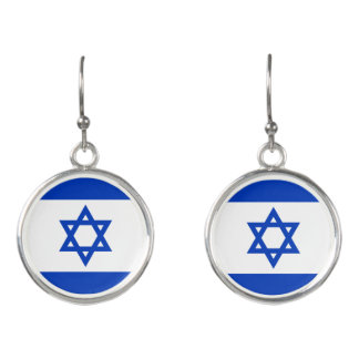 Israel's Flag - Star of David (Mogen Dovid) Earrings