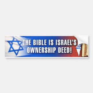 Israel's Ownership Deed Car Bumper Sticker