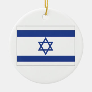 Isreal Flag Ceramic Ornament