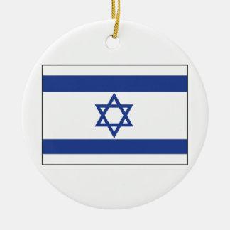 Isreal Flag Ceramic Ornament